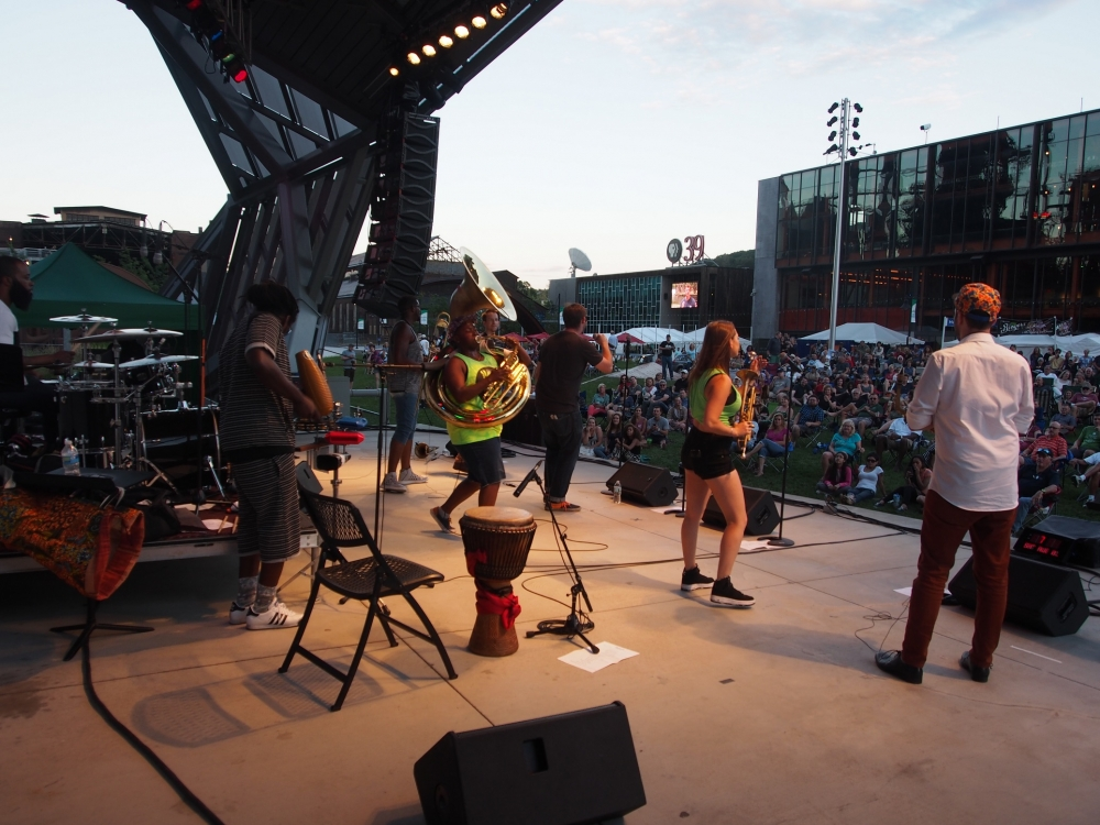 PitchBlak Brass Band: Saturday, August 1, 2015