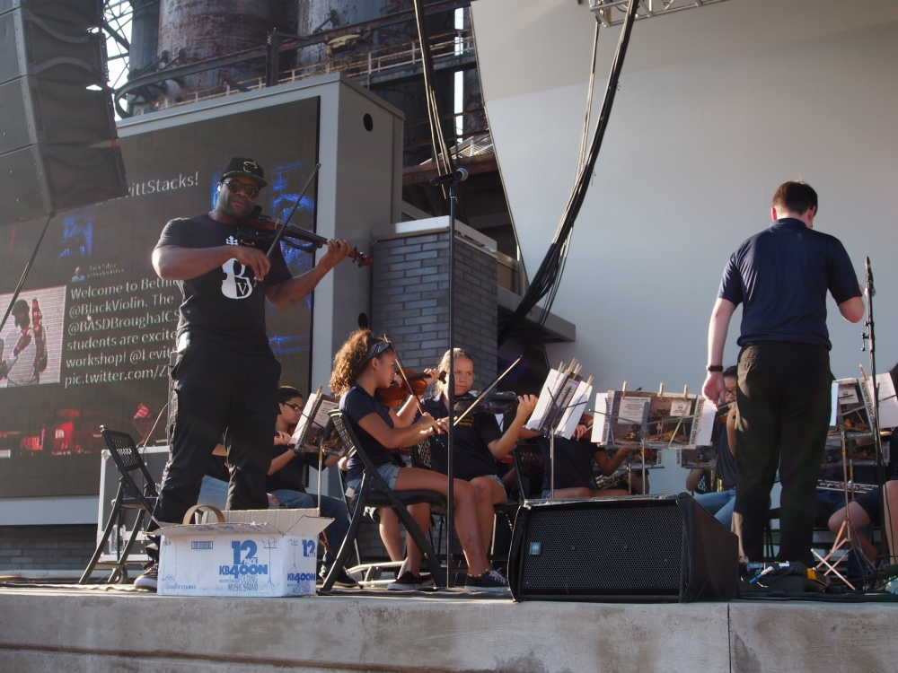 Levitt Pavilions National Tour: Black Violin playing with the Broughal Middle School Orchestra: Saturday, July 11, 2015
